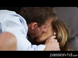 Hot chick excites herself with vibrator before fucking with boyfriend