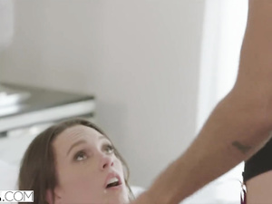 Black guy punishes a hot real estate agent girl with rough interracial hardcore