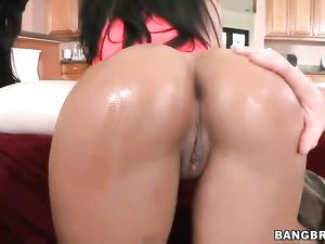 Hot young brunettes with awesome butts are having hardcore fuck