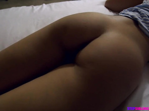Burning hot young brunette got fucked hard by stepbrother